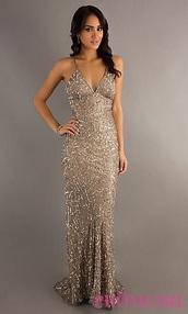 dress,prom dress,gold,sequin dress,backless