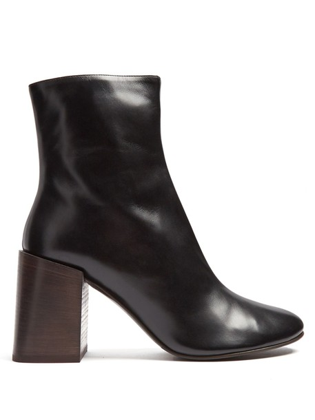 Acne Studios heel leather ankle boots ankle boots leather black shoes