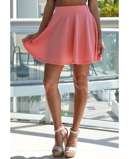 Trendy Clothing, Fashion Shoes, Women Accessories | Leslie Coral Skater Skirt | LoveShoppingMiami.com