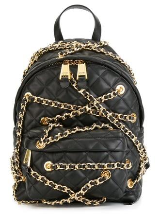 embellished backpack black bag