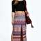 Freya printed double slit maxi skirt