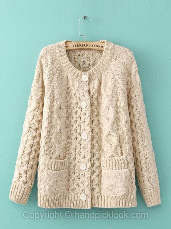 top cardigan winter sweater knitted cardigan beige coat