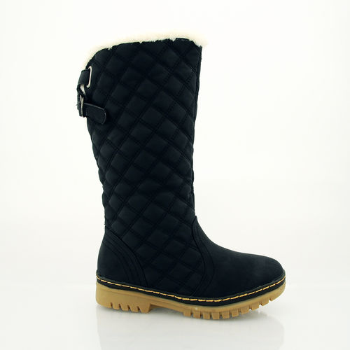 LADIES FASHION WINTER CALF SNOW BOOTS GRIP SOLE WARM FUR LINED SIZE 3 4 5 6 7 8 | Amazing Shoes UK