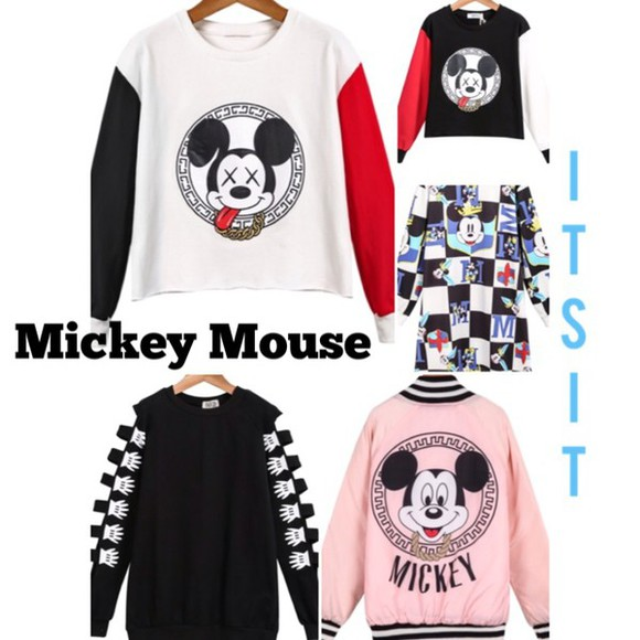 black white sweater cute new york city jacket style pullover fashion mouse mickey mouse sweater mickey mouse hoodies mickey mouse hands mickey hands mickey mouse shirt sexy-sweaters sweatsuit sweater/sweatshirt chain sweater weather fall sweater fall outfits school girl back to school cute sweaters cute outfits cute  outfits comfy outfits comfy comfysweater tomboy tomboy shirt itsit clothing instagram instafashion dope dope shit dope af long sleeves red sweater
