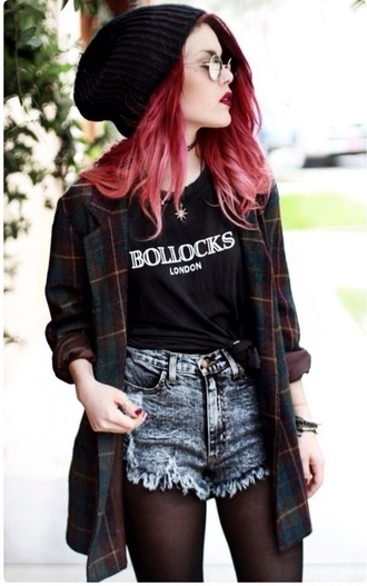 coat flannel shirt grunge flannel