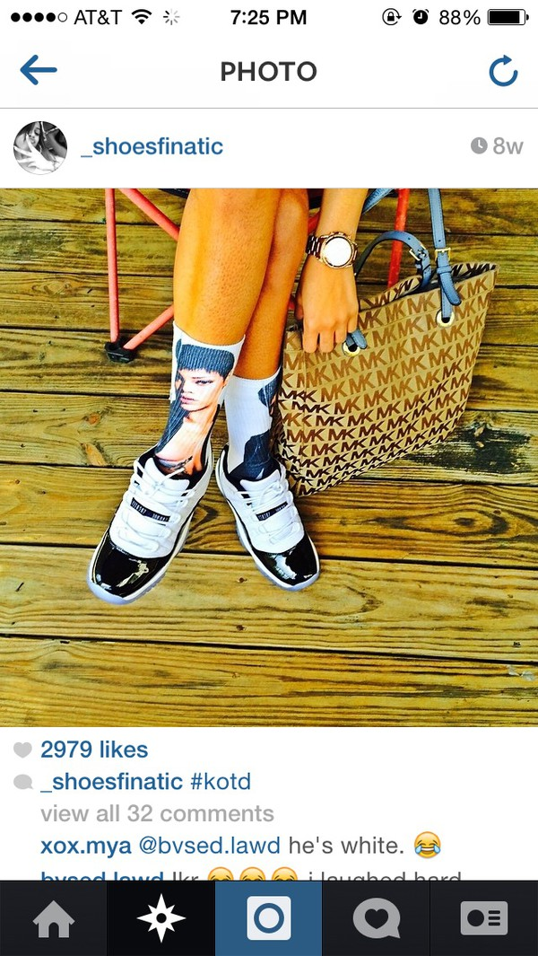 socks white socks rihanna socks short short hair hair hair short graphic tee graphic sock graphic socks jordan jordan's
