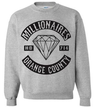 sweater the millionaires millionaire diamonds scene grey melissa green allison marie diamond sweater oc orange county grey sweater shirt top warm cozy