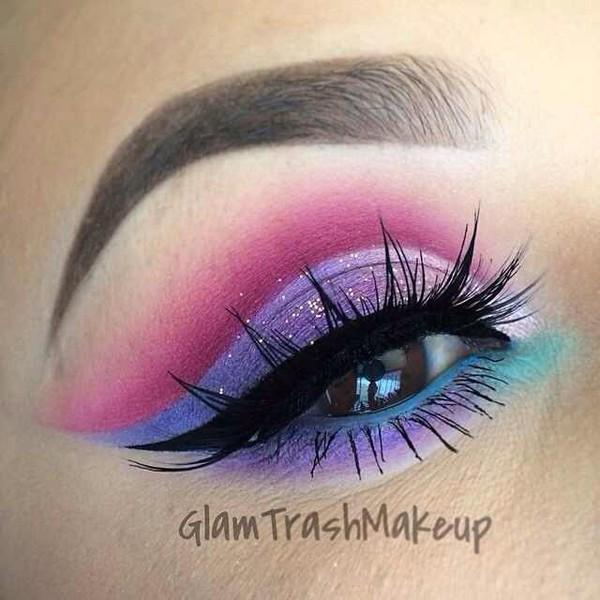 Make Up Pink Eyeshadow Purple Eyeshadow Torquise