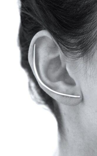 jewels silver ear climbers ear climbers silver earrings minimalist minimalist jewelry