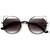 Designer Inspired Womens Round Cat Eye Sunglasses 9122                           | zeroUV