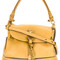 Chloé - owen tote bag - women - cotton/calf leather - one size, yellow/orange, cotton/calf leather