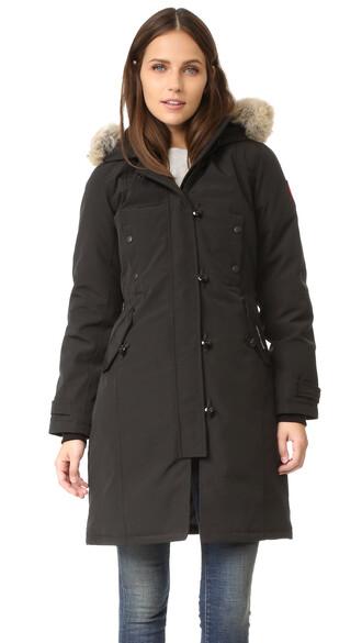 parka black coat