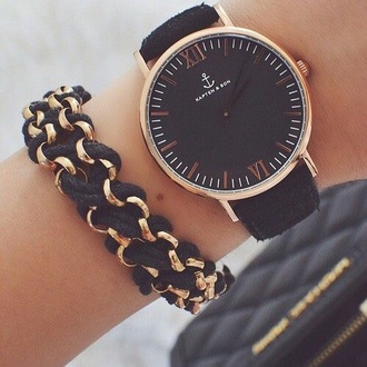 jewels watch black gold kapten and son