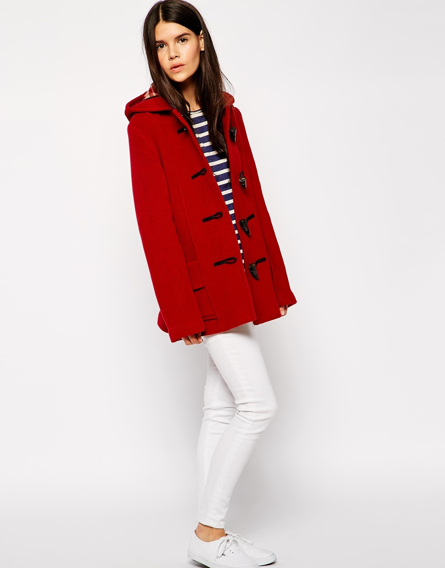 Gloverall Short Duffle Coat at asos.com