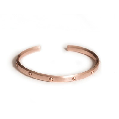 Screw bracelet in rosa gold pladet sterling silver - Rosaforgyldt Sølv - Armbånd