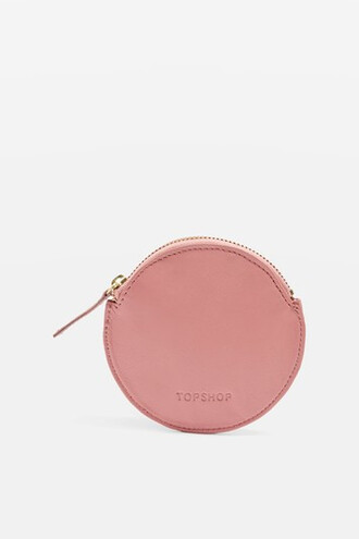purse leather pink bag