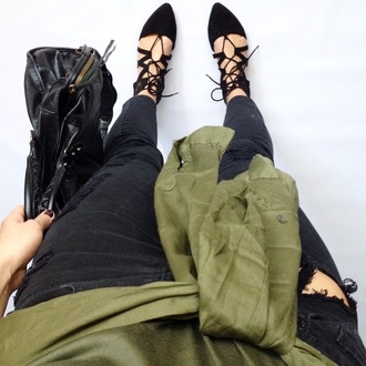 shoes black lace up pointed toe sanders summer closed toe slip on shoes flats detailed