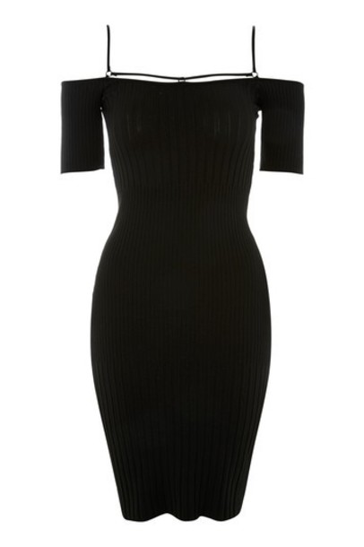 Topshop dress bodycon bodycon dress black