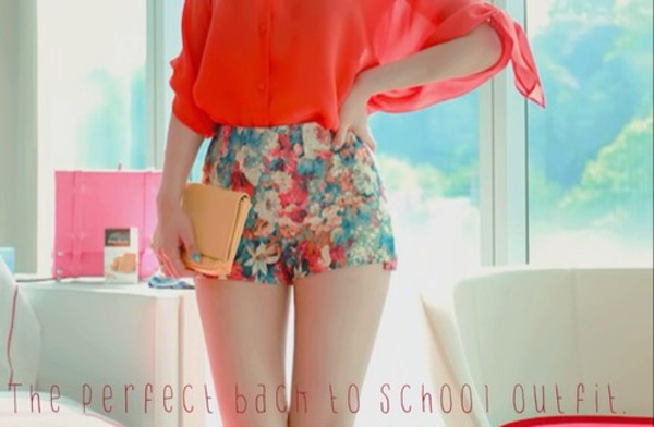 shorts pink floral flowered shorts