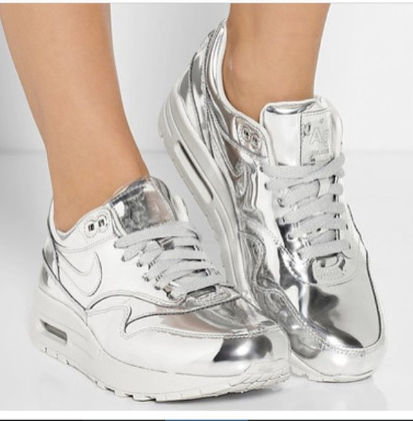shoes nike sneakers nike shoes silver