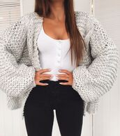 cardigan,grey cardigan,sweater