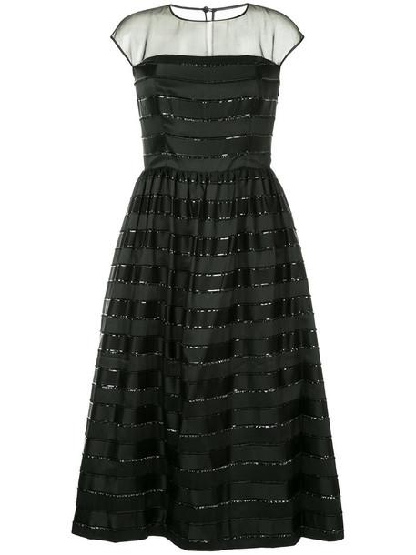 Ingie Paris dress striped dress metallic women lace black