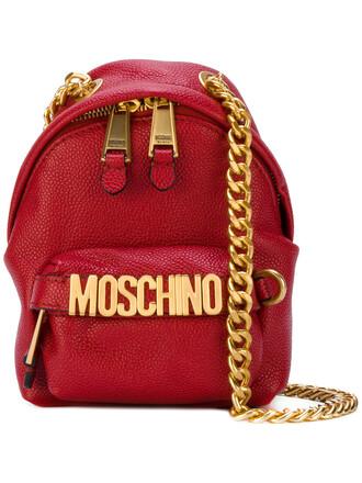 women bag backpack shoulder bag leather red