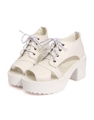 Chunky milk sandals spring summer platform heels white beige blogger