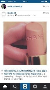 make-up,lipstick,pink,chanel,cream,creamy,beautiful,chanel lipstick,matte,chanel make up
