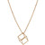 Cube yellow-gold necklace