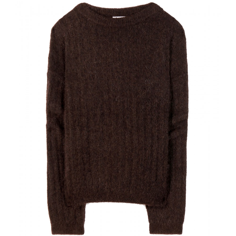 mytheresa.com - Dramatic mohair and wool-blend sweater - Sweaters - Knitwear - Clothing - Luxury Fashion for Women / Designer clothing, shoes, bags