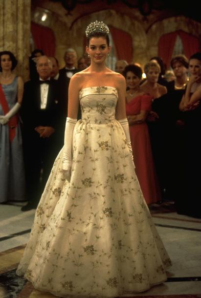 dress movie disney princess dress princess diaries anne hathaway gorgeous pretty classic