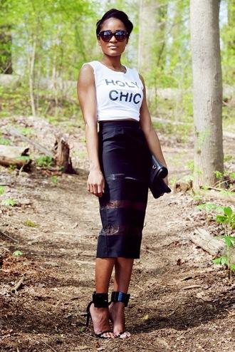 the daileigh t-shirt skirt bag shoes sunglasses