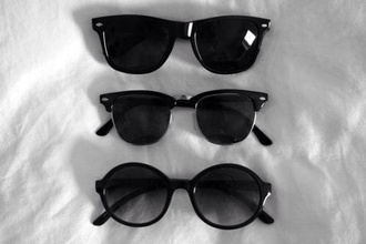 sunglasses black fashion rayban vintage glasses round sunglasses summer grunge white black sunglasses black cirlce clubwear clubmasters tumblr style love wheretoget?? unisex