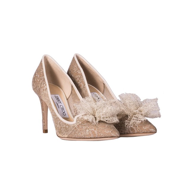 Jimmy Choo pumps gold silver shoes