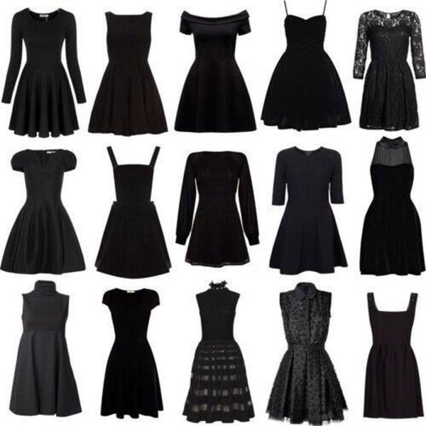 dress little black dress clothes