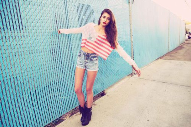 Shoes: amazing, long hair, tumblr, blouse, shorts, jeans, shirt ...