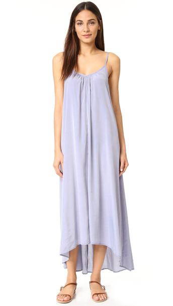 One By Pink Stitch Resort Maxi Dress - Denim