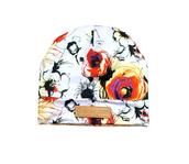 floral beanie,floral printed beanie,beanie,floral