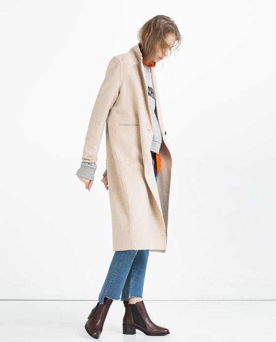 4aefc511 HAND MADE MASCULINE COAT - Coats-OUTERWEAR-WOMAN ...