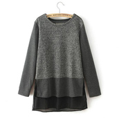 top,blouse,pullover,casual,warm,shirt,zip,nice,grey,stitching,o-neck,spring,fall outfits,office outfits