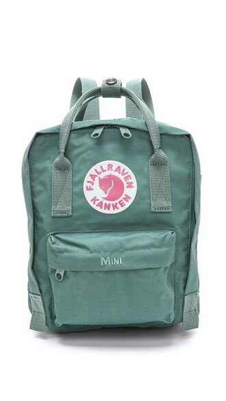 mini backpack green bag