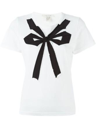 t-shirt shirt bow white top