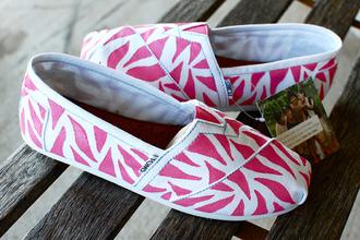 shoes summer pink toms zebra