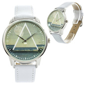 jewels,watch,white,sea,sea watch,leather watch,designer watch,unusual watch,unique watch,beautiful watch,ziz watch,ziziztime