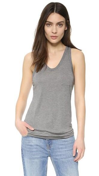 classic grey heather grey top