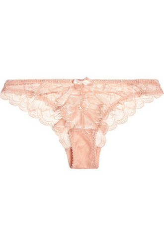 lace blush underwear