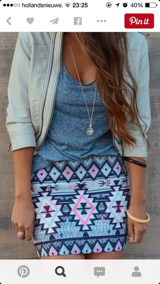 skirt style fashion outfit pinterest jacket t-shirt top