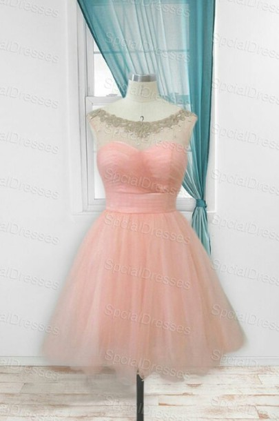 dress homecoming pink