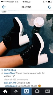 shoes,platform shoes,boots,black and white,need it now,fashion